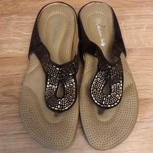 Shoes - Beaded flipflops